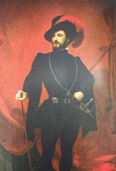 Певец Джованни Марио в образе дона Жуана в одноимённой опере Моцарта. Середина XIX века